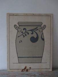 Oude schoolplaat met keulse pot