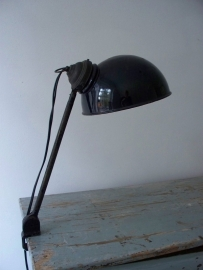 Industriele emaille  bureaulamp SOLD