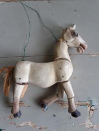 Antieke marionettenpop  paard Sold
