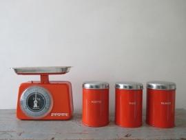 Oude voorraadbussen koffie thee en suiker retro SOLD