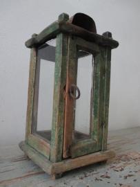 18 eeuwse houten lantaarn uit Zweden SOLD