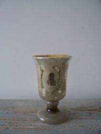 Oude zilverglas / armeluiszilveren bokakaal SOLD