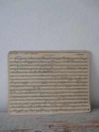 Frans muziek kaartje SOLD