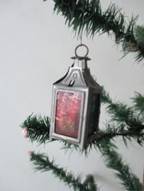 Oude antieke kerstbal lantaarntje SOLD