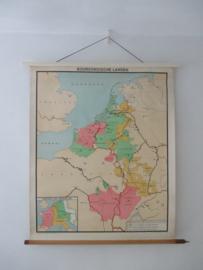 Oude schoolplaat bourgondische landen