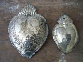 Antiek Frans zilveren hart (ex voto) (SOLD)