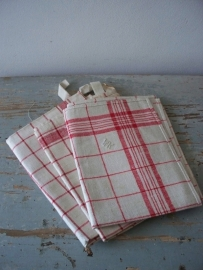 Oude franse linnen theedoeken SOLD