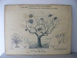 Oude schoolplaat met mistletoe SOLD