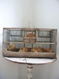Grote oude Franse vogelkooi / klepkooi