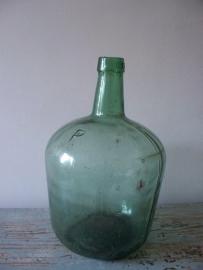 Glazen fles / gistingsfles  klein model SOLD