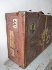 Antieke leren koffer
