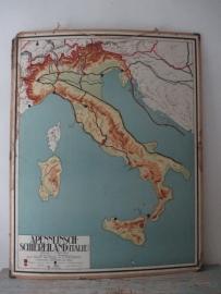 Oude schoolplaat Italie SOLD