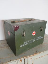 Oude groene legerkist SOLD