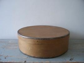 Oude Franse platte hoedendoos SOLD