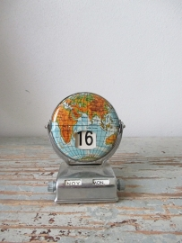 Vintage kalendertje globe SOLD