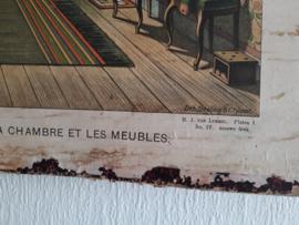Franse schoolplaat interieur