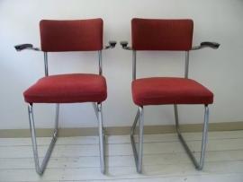2 buisframe stoelen van Friso Kramer Ahrend de Cirkel SOLD