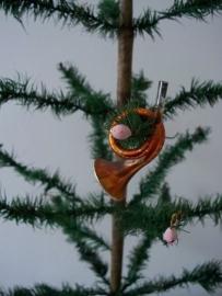 Oude antieke kerstbal / instrumentje SOLD