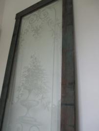 Antieke deur met prachtig glas SOLD