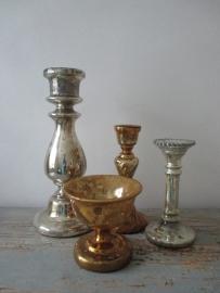 Oud Armeluiszilver/zilverglas bokaal goud SOLD