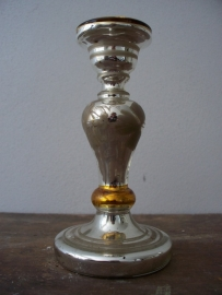 Oud Armeluiszilver/zilverglas kandelaar SOLD