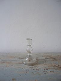 Oud Armeluiszilver/zilverglas kandelaartje