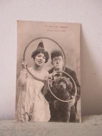 Antieke kaart met clowntjes uit 1904 SOLD