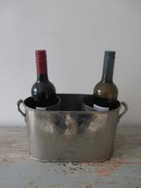 Oude Franse wijnkoeler voor 2 flessen SOLD