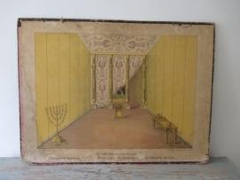 Oude schoolplaat interieur