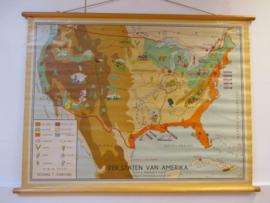 Oude schoolplaat USA