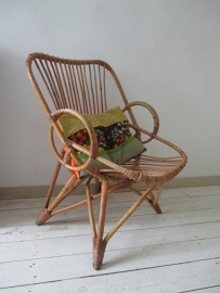 Oude rohe rotan stoel vintage  / retro SOLD