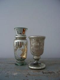 Antiek zilverglas/armeluiszilveren bokaaltje SOLD