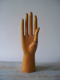 Oude houten etalage hand SOLD