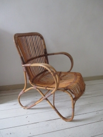Vintage rotan stoel SOLD