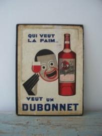 Oude reclameplaat/menukaart uit Parijs SOLD