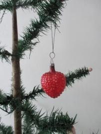 Oude antieke kerstbal / hart SOLD