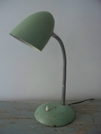 Industriele oude Franse bureaulamp SOLD