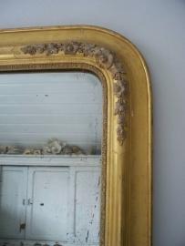 Grote antieke Franse spiegel SOLD