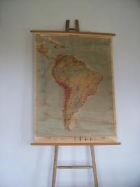 Oude schoolplaat Zuid Amerika SOLD