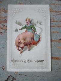 Antieke nieuwjaarskaart