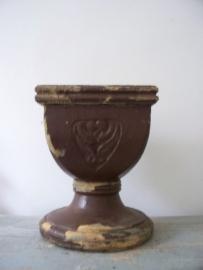 Oud houten ornament /sokkel SOLD