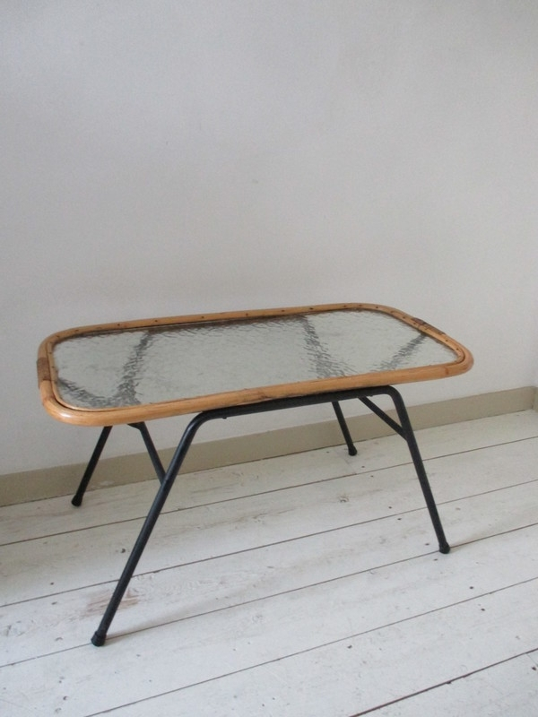 Oud rotan tafeltje SOLD