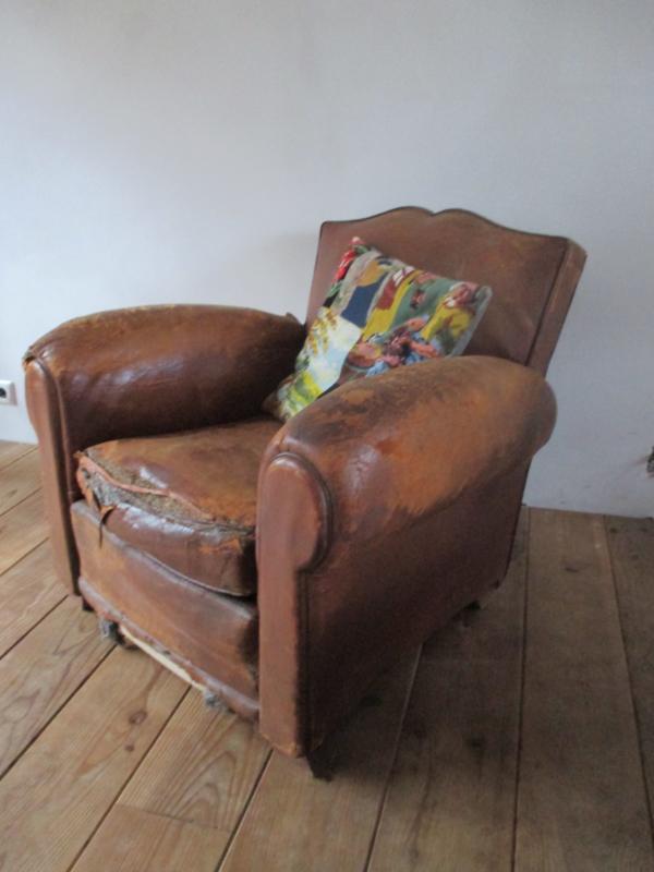 Betere Oude leren fauteuils SOLD | sold | sjebbiez WT-96