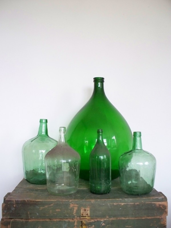 Glazen fles / gistingsfles SOLD