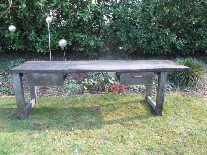 Oude Industriele Tafel.Oude Industriele Tafel Werktafel Werkbank Xxl Sold Furniture