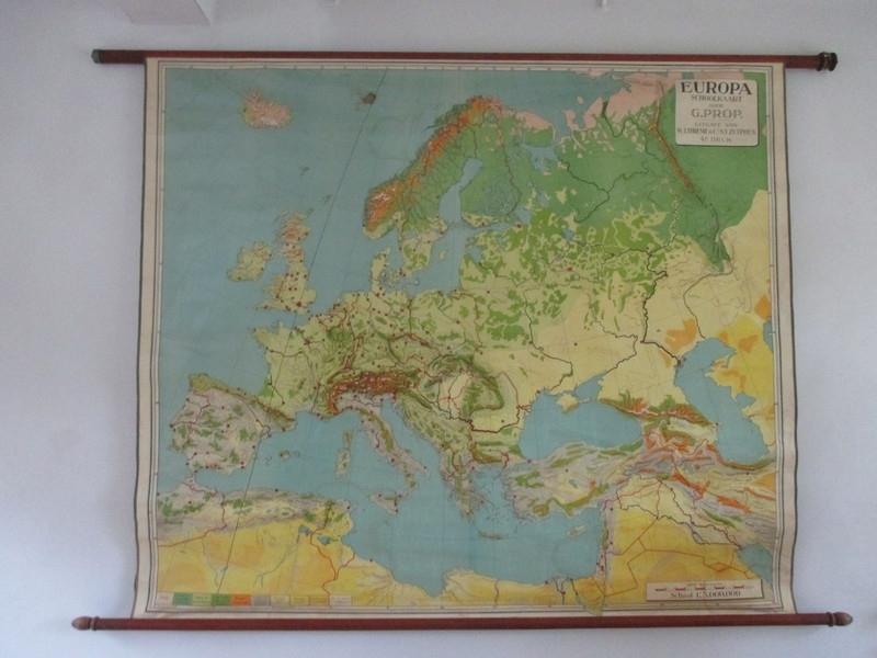 Oude schoolplaat europa XXL SOLD