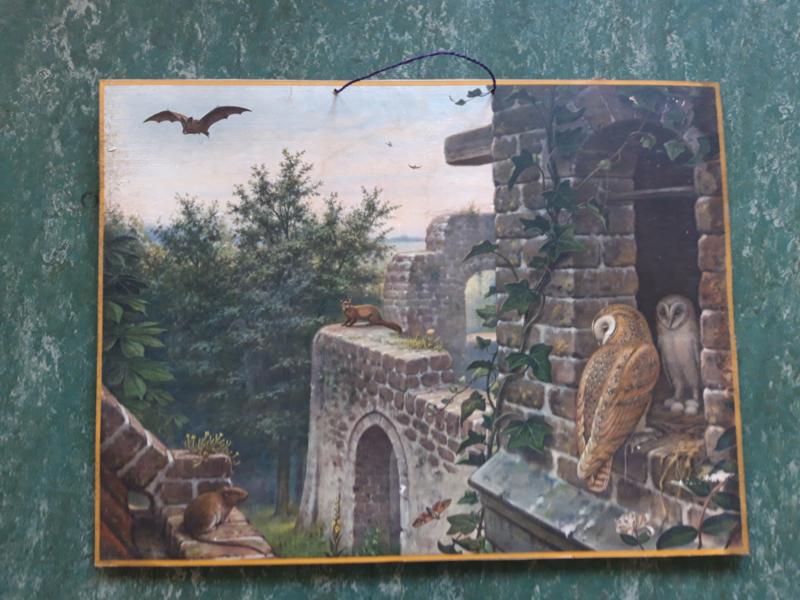 Oude Koekkoek schoolplaat in de ruine