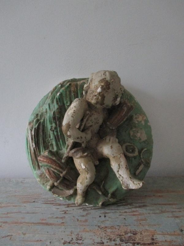 Antiek Frans engelenornament SOLD