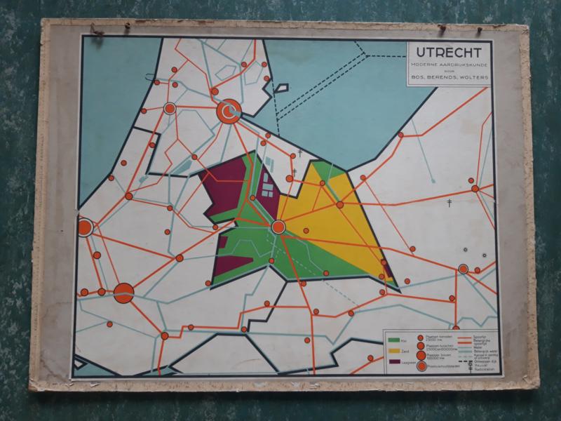 Oude schoolplaat Utrecht