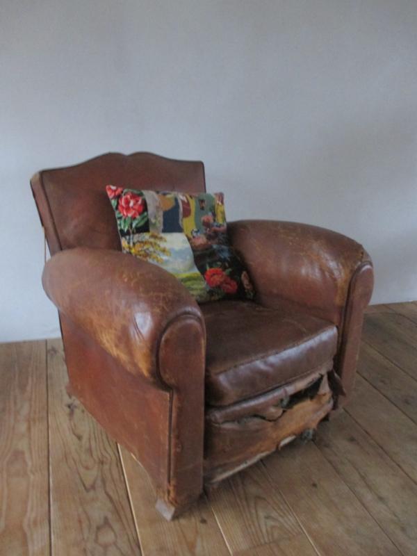 Ongekend Oude leren fauteuils SOLD | sold | sjebbiez TH-65